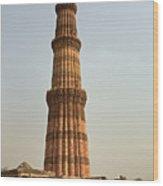 Qutb Minar In New Delhi Wood Print