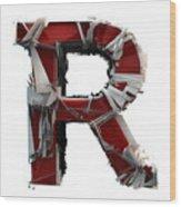 R Is Rock N Roll Wood Print