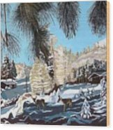 R-ranch In The Winter Wood Print