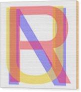 R U N Wood Print