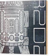 R2d2 - Star Wars Art - Space Wood Print