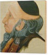 Rabbi Wood Print