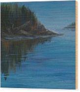 Rabbit Blanket Lake Wood Print