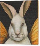 Rabbit Fairy Wood Print