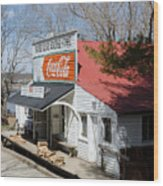 Rabbit Hash Store-front View Angle Wood Print