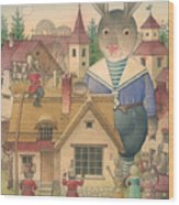 Rabbit Marcus The Great 16 Wood Print