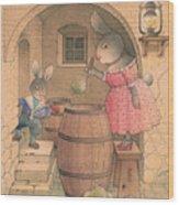 Rabbit Marcus The Great 20 Wood Print