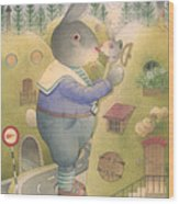 Rabbit Marcus The Great 25 Wood Print