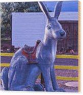 Rabbit Ride Route 66 Wood Print