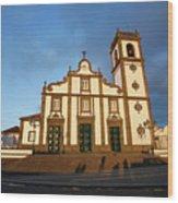 Rabo De Peixe Church Wood Print
