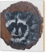 Raccoon Wood Print