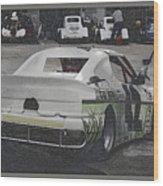 Race Cars Wood Print