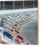 Race Fan Wood Print