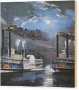 Race On Mississippi, 1860 Wood Print