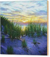 Race Point Dune Sunset Wood Print