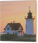 Race Point Light Wood Print by Roupen  Baker