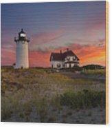 Race Point Light Sunset 2015 Wood Print