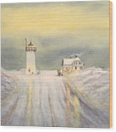 Race Point Lighthouse Provincetown Wood Print