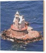 Race Rock Lighthouse Wood Print