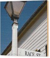 Race St Old Salem Wood Print