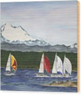 Race Week On Whidbey Island Wood Print