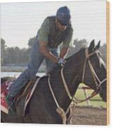 Racehorse At Evangeline Downs Wood Print