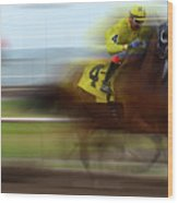 Racetrack Dreams 1 Wood Print