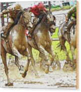 Racetrack Dreams 11 Wood Print