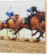 Racetrack Dreams 7 Wood Print