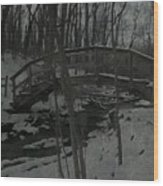 Rachel Carson Trail Bridge Wood Print