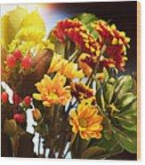 Rachels Flowers Wood Print