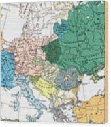 Racial Map Of Europe Circa 1923 Wood Print