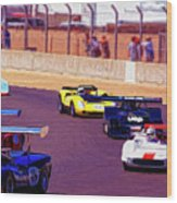 Racing At Laguna Seca Wood Print