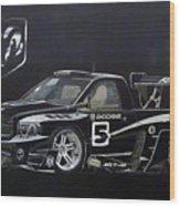 Racing Dodge Pickup Wood Print