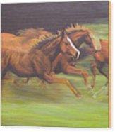 Racing Horses Wood Print
