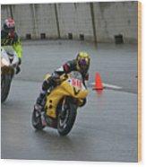 Racing In The Rain Wood Print