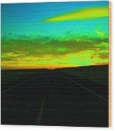 Racing The Sunset Wood Print