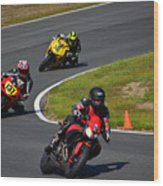 Racing Through Turn 11 Wood Print