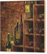 Racked Wine Wood Print