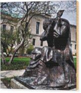 Rackham Statue Wood Print