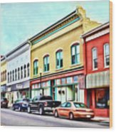 Radford Virginia - Along Main Street Wood Print
