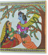 Radha Krishna  Wood Print by Shruti Prasad