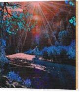 Radiant Energy Wood Print