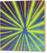 Radiant Flow 3 Wood Print
