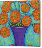 Radiant Ranunculus Wood Print