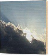 Radiant Sky One Wood Print
