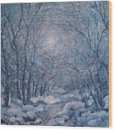 Radiant Snow Scene Wood Print