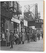 Radio Alley In New York Wood Print