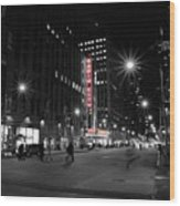 Radio City Colors Wood Print