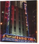 Radio City Music Hall Cirque Du Soleil Zarkana Wood Print